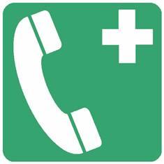 Panneau téléphone d´urgence ISO 7010 - E004