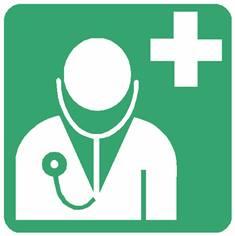 Panneau médecin ISO 7010 - E009