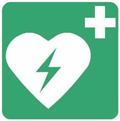 Panneau défibrillateur automatique externe pour le coeur  ISO 7010 - E010