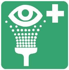 Panneau équipement de rinçage des yeux  ISO 7010 - E011