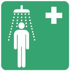 Panneau douche de sécurité ISO 7010 - E012