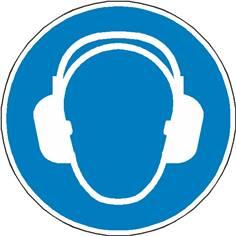 Autocollant au Sol Protection auditive obligatoire - M003