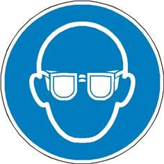 Signalétique lunettes de protection obligatoires ISO 7010 - M004