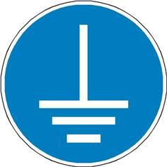 Signalétique mise à la terre obligatoire ISO 7010 - M005