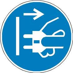 Signalétique débrancher la prise d´alimentation du secteur  ISO 7010 - M006