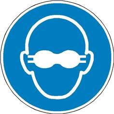 Signalétique lunettes de protection opaques obligatoires ISO 7010 - M007