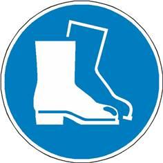 Autocollant au sol Chaussures de Sécurité Obligatoires - M008