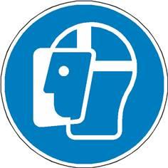 Sticker au sol Protection du visage obligatoire Ø  500 mm - M013
