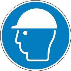 Signalétique casque de protection obligatoire ISO 7010 - M014