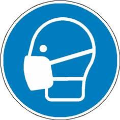 Signalétique masque obligatoire ISO 7010 - M016