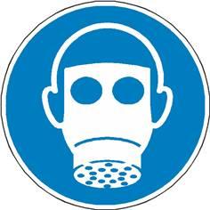 Signalétique protection des voies respiratoires obligatoire ISO 7010 - M017