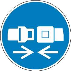 Signalétique attacher la ceinture de sécurité ISO 7010 - M020