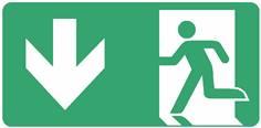 Panneau Evacuation sortie en bas ISO 7010 - STF 4027S