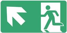 Panneau Evacuation sortie en haut à gauche ISO 7010 - STF 4029S