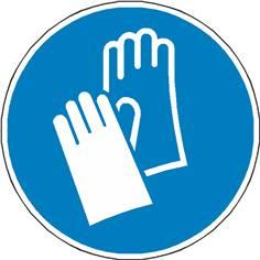 Signalétique gants de protection obligatoires ISO 7010 - M009
