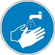 Signalétique lavage des mains obligatoires ISO 7010 - M011