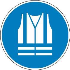 Signalétique gilet de sécurité haute visibilité obligatoire ISO 7010 - M015
