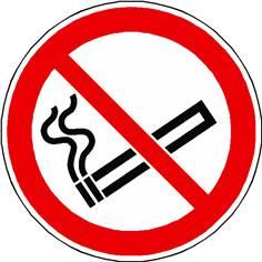 Picto Interdiction de Fumer pour marquage au sol Ø  500 mm - P002