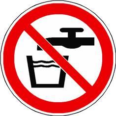 Panneau eau non potable ISO 7010 - P005