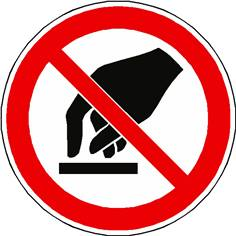 Panneau interdiction de toucher ISO 7010 - P010