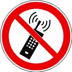 Panneau Téléphones Portables Interdits ISO 7010 - P013