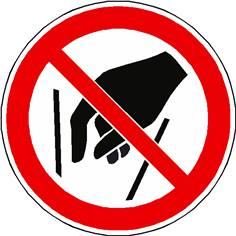 Panneau interdiction de mettre les mains ISO 7010 - P015