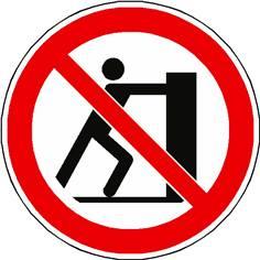 Panneau interdiction de pousser ISO 7010 - P017