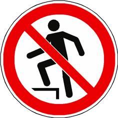 Panneau interdiction de marcher sur la surface ISO 7010 - P019