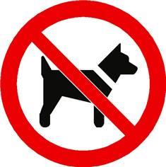 Panneau interdit aux chiens ISO 7010 - P021