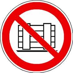 Panneau ne pas obstruer ISO 7010 - P023