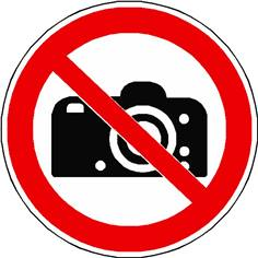 Panneau interdiction de photographier ISO 7010 - P029