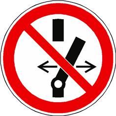 Panneau interdiction de modifier la position de l´interrupteur ISO 7010 - P031