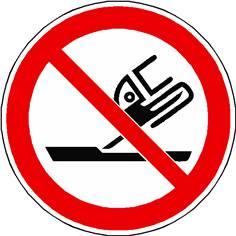 Panneau interdiction d´utiliser pour la rectification plane ISO 7010 - P032
