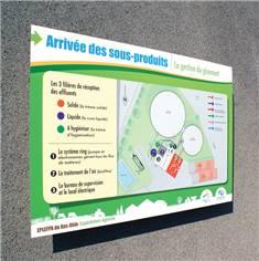 Panneaux d´entrée de site industriel personnalisé - fixation murale
