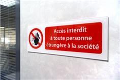 Panneau de sécurité personnalisé en plexiglas