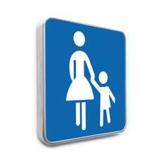 Panneau parking réservé aux familles - Bleu