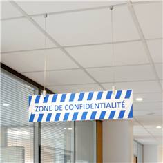 Panneau  Zone de confidentialité suspendu simple face