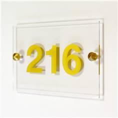 Numéro de chambre doré avec cache-vis