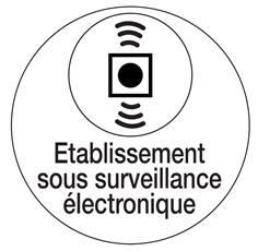 Etiquette Etablissement Sous Surveillance Eléctronique