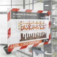 Pochettes adhésives repositionnables avec cadre bicolore Duraframe® Security - A4 - Lot de 2