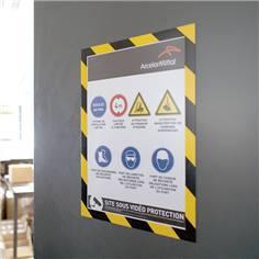 Cadre magnétique bicolore Duraframe® Magnetic Security - A4 - Lot de 5