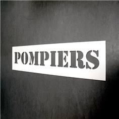 Pochoir Pompiers - Hauteur de lettres 140 mm