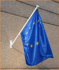 Kit 2 drapeaux Français et Européen 100 x 150 cm pour écoles et administrations
