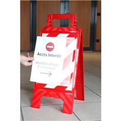 Chevalet de signalisation avec porte-affiches recto/verso