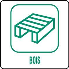 Panneaux déchetterie - Bois - 350 x 350 mm
