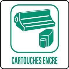 Panneaux déchetterie - Cartouches encre - 350 x 350 mm