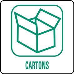 Panneaux déchetterie - Cartons - 350 x 350 mm