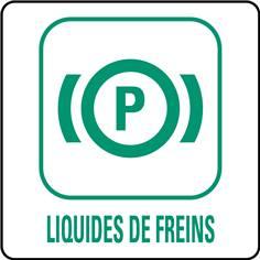 Panneaux déchetterie - Liquides de freins - 350 x 350 mm