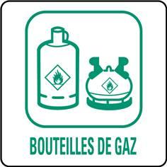 Panneaux déchetterie - Bouteilles de gaz - 350 x 350 mm