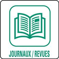 Panneaux déchetterie - Journaux / Revues - 350 x 350 mm
